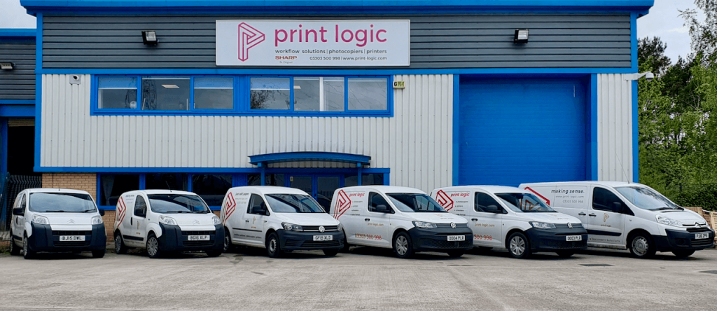 Print Logic fleet of vans
